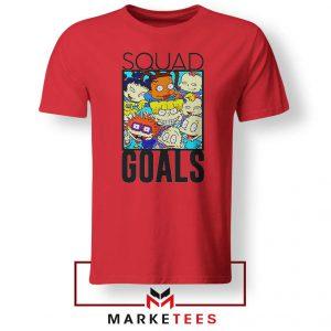 Rugrats Squad Goals Red Tshirt