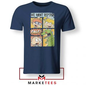 Rugrats We Want Reptar Navy Blue Tshirt