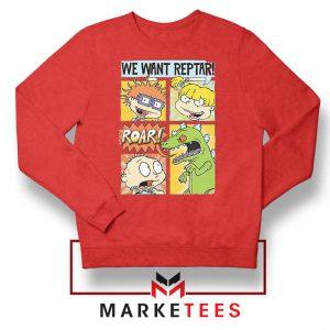 Rugrats We Want Reptar Red Sweatshirt