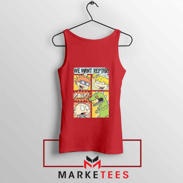 Rugrats We Want Reptar Red Tank Top