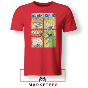 Rugrats We Want Reptar Red Tshirt