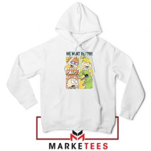 Rugrats We Want Reptar White Hoodie