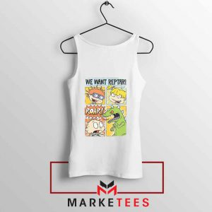 Rugrats We Want Reptar White Tank Top