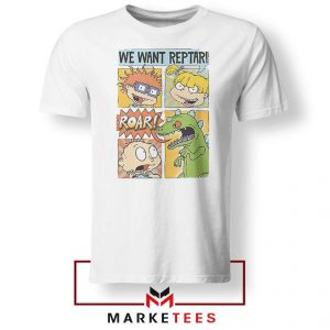 Rugrats We Want Reptar White Tshirt