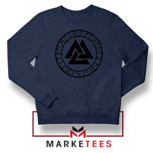 The Valknut Symbol Navy Blue Sweatshirt