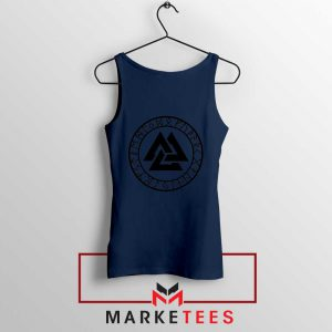 The Valknut Symbol Navy Blue Tank Top