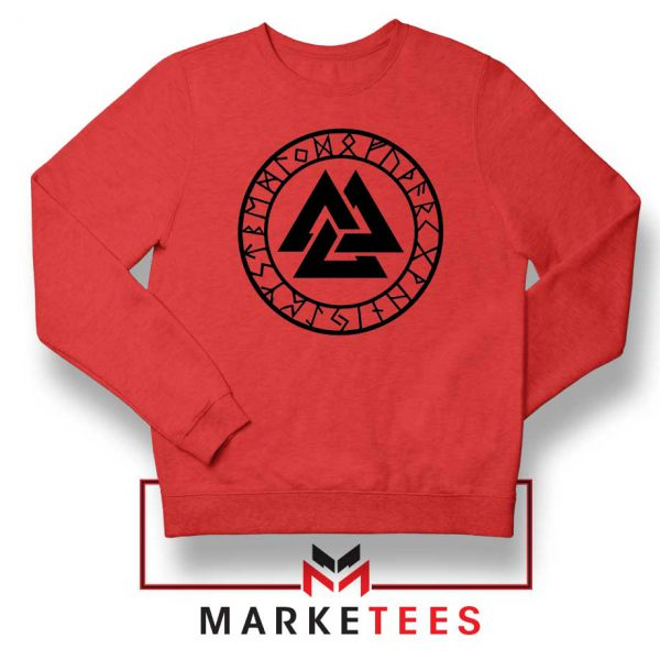 The Valknut Symbol Red Sweatshirt