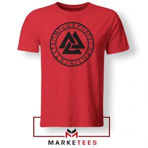 The Valknut Symbol Red Tshirt