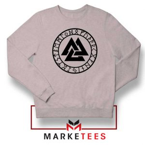 The Valknut Symbol Sport Grey Sweatshirt