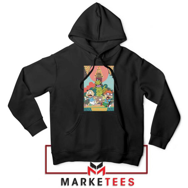 Tommy And Chuckie Run Away Black Hoodie