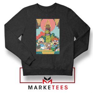 Tommy And Chuckie Run Away Black Sweatshirt