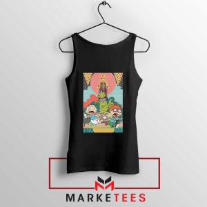 Tommy And Chuckie Run Away Black Tank Top