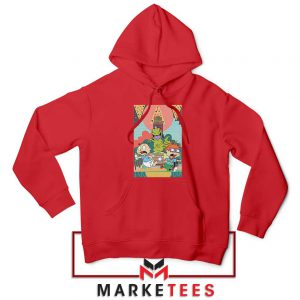 Tommy And Chuckie Run Away Red Hoodie