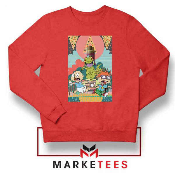 Tommy And Chuckie Run Away Red Sweatshirt