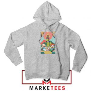 Tommy And Chuckie Run Away Sport Grey Hoodie