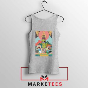 Tommy And Chuckie Run Away Sport Grey Tank Top