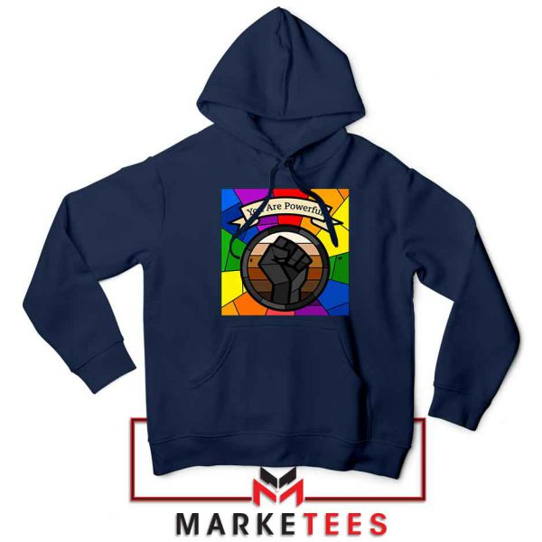You Are Powerful Navy Blue Hoodie