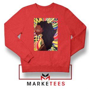 Alkebulan Motherland Africa Red Sweatshirt