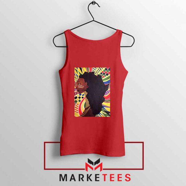 Alkebulan Motherland Africa Red Tank Top