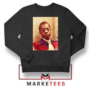 Baldwin American Novelist Black Sweatshirt