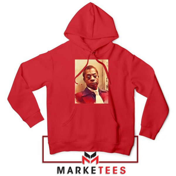 Baldwin American Novelist Red Hoodie