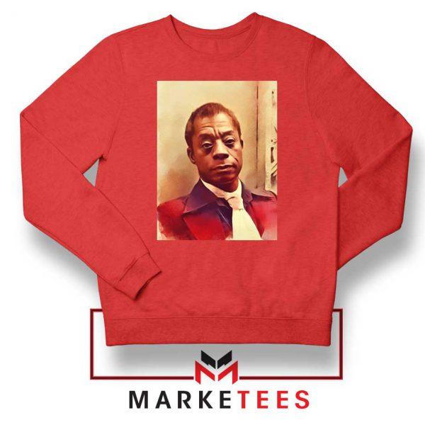 Baldwin American Novelist Red Sweatshirt