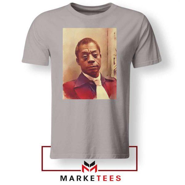 Baldwin American Novelist Sport Grey Tshirt