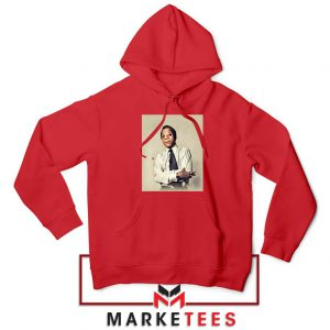Baldwin Playwright Red Hoodie