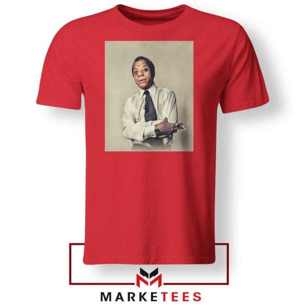 Baldwin Playwright Red Tshirt