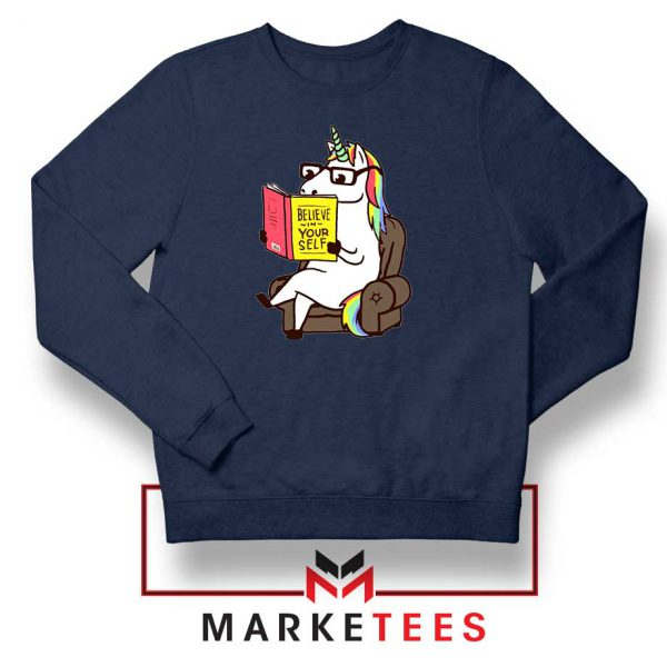 Believe Your Self Navy Blue Sweatshirt