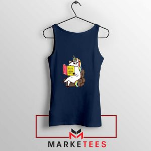 Believe Your Self Navy Blue Tank Top