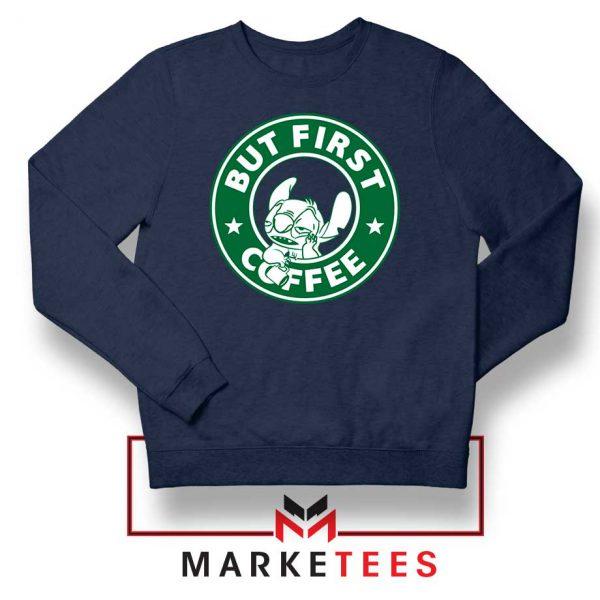 But First Coffee Navy Blue Sweatshirt