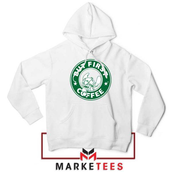 But First Coffee White Hoodie