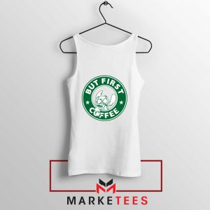 But First Coffee White Tank Top