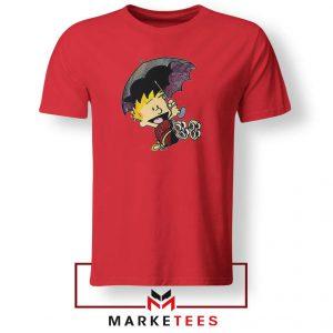 Calvin Hobbes Umbrella Red Tshirt