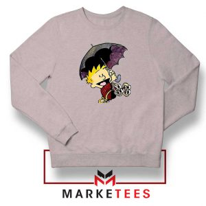 Calvin Hobbes Umbrella Sport Grey Sweatshirt
