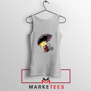 Calvin Hobbes Umbrella Sport Grey Tank Top