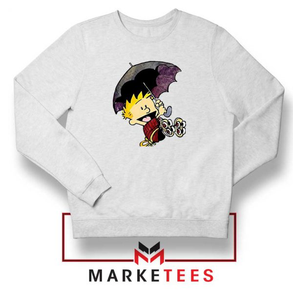 Calvin Hobbes Umbrella Sweatshirt