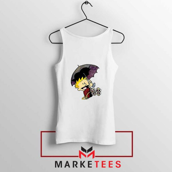 Calvin Hobbes Umbrella Tank Top