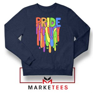 Celebrate Yourself Navy Blue Sweatshirt