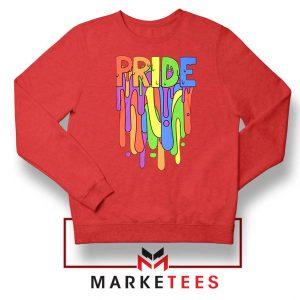 Celebrate Yourself Red Sweatshirt
