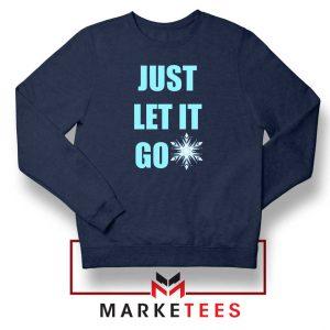 Cheap Just Let It Go Navy Blue Sweatshirt