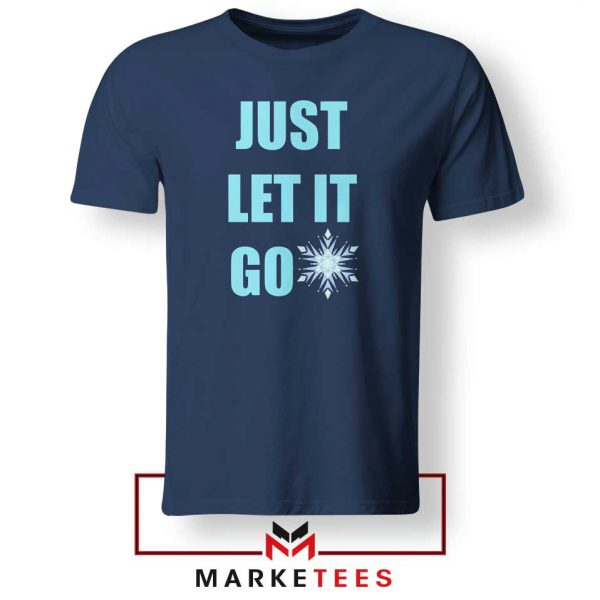 Cheap Just Let It Go Navy Blue Tshirt