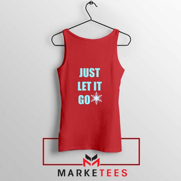 Cheap Just Let It Go Red Tank Top