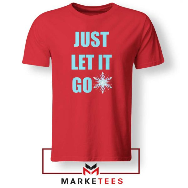 Cheap Just Let It Go Red Tshirt
