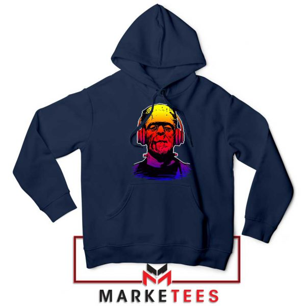 Chillinstein Halloween Navy Blue Hoodie