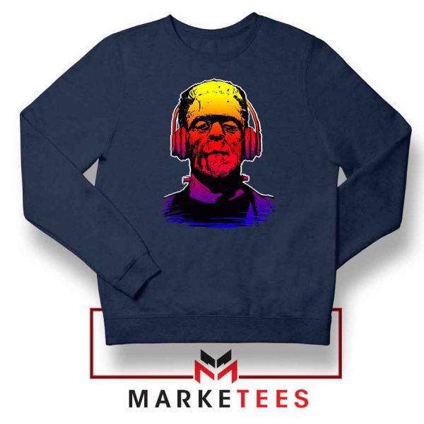 Chillinstein Halloween Navy Blue Sweatshirt