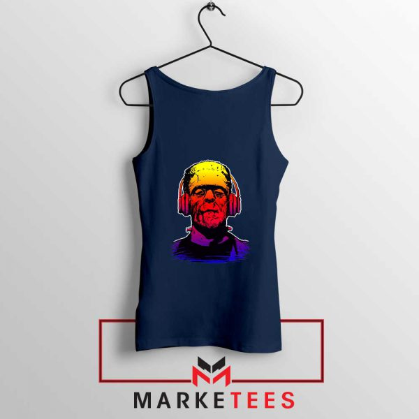 Chillinstein Halloween Navy Blue Tank Top