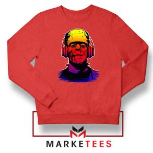 Chillinstein Halloween Red Sweatshirt