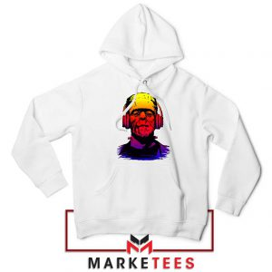 Chillinstein Halloween White Hoodie